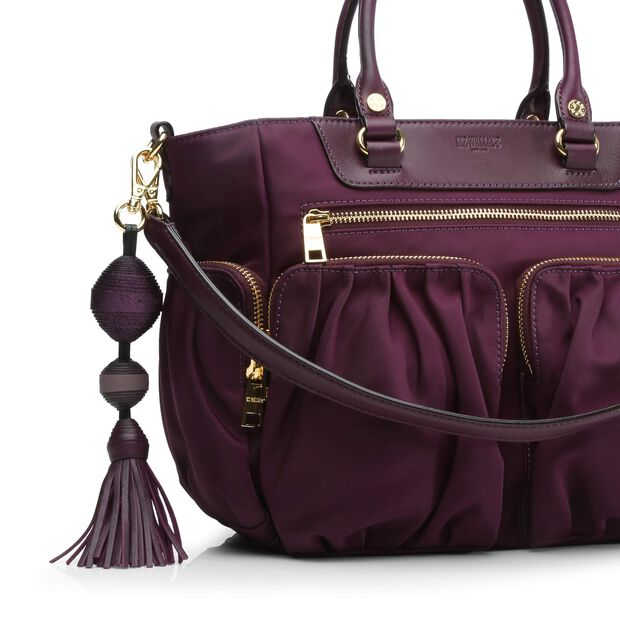 Ball and Tassel - Mulberry Leather (3751336) in color Mulberry
