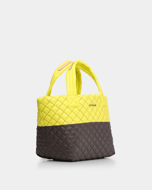 Neon Yellow/Magnet Oxford Small Metro Tote (3701370) in color Neon Yellow & Magnet