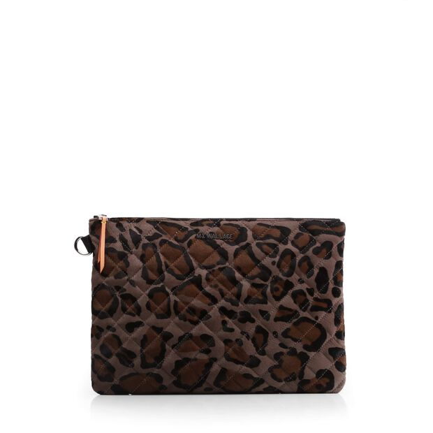 Metro Pouch in color Brown & Black