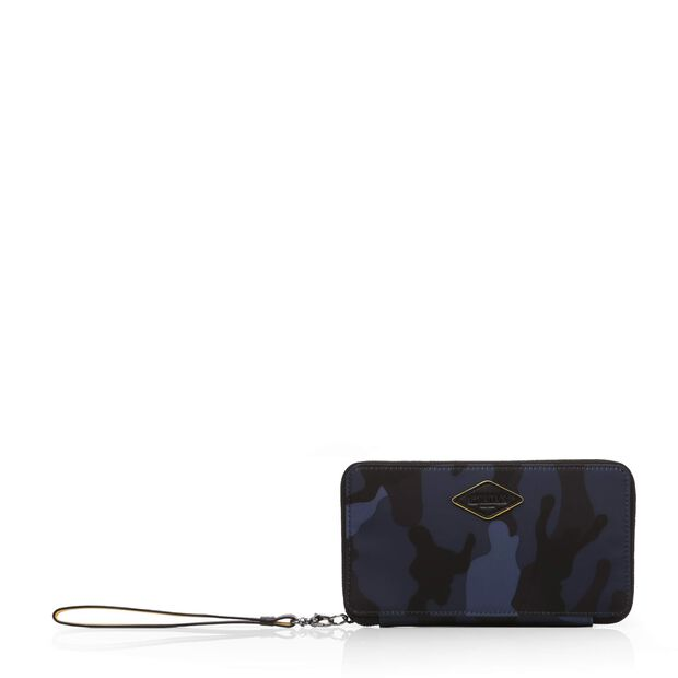 Dark Blue Camo Bedford Sporty Wallet (2471311) in color Dark Blue Camo