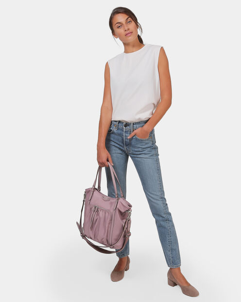 Dusty Rose Bedford Nikki Tote (1481393) in color Dusty Rose