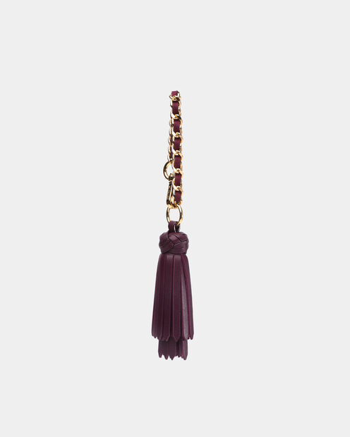 Link Tassel in color Mulberry