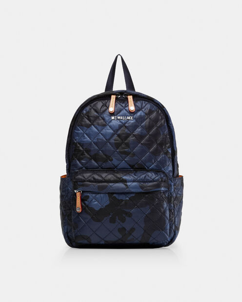 Small Metro Backpack in color Dark Blue Camo
