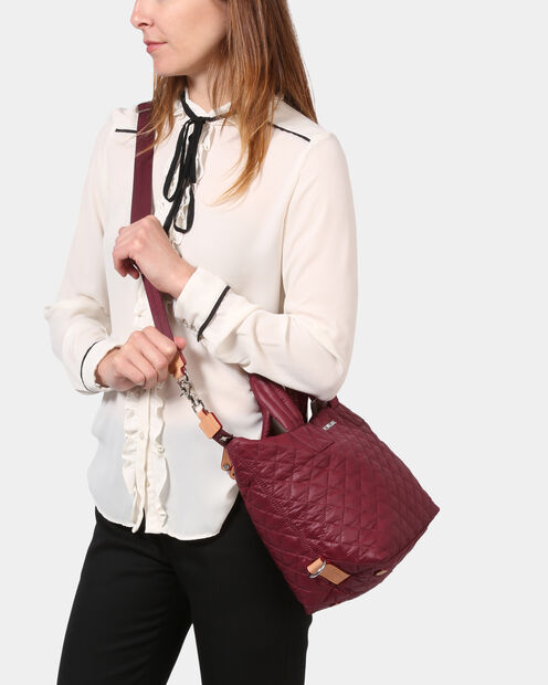 Small Sutton - Maroon Quilted Oxford (2881315) in color Maroon