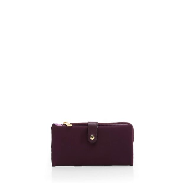 Mae Wallet in color Mulberry