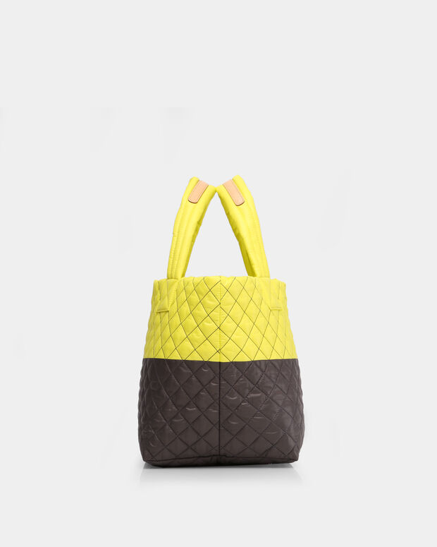Neon Yellow/Magnet Oxford Small Metro Tote (3701370)