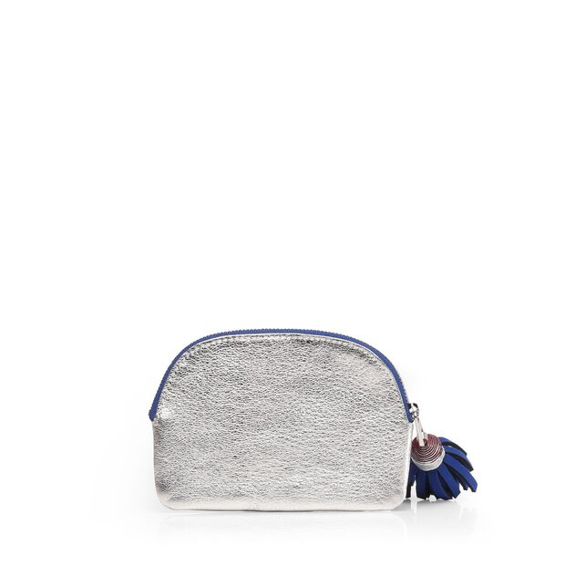 Silver & Cobalt Leather Petey (5951394) in color Silver & Cobalt