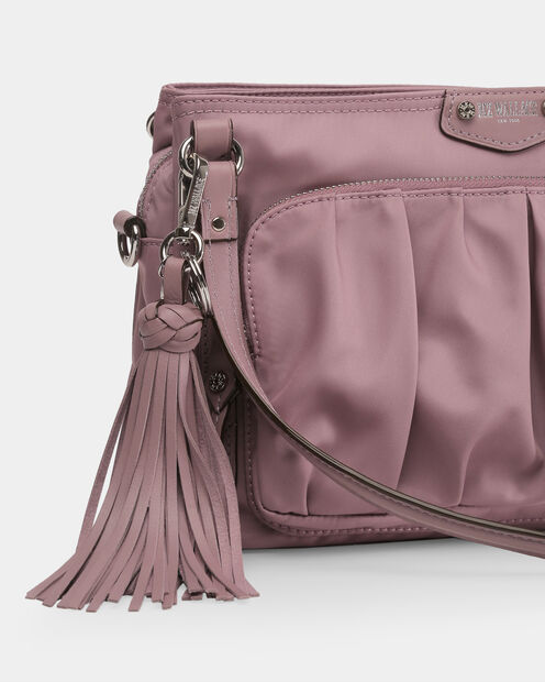 Dusty Rose Leather Braided Tassel (9981393) in color Dusty Rose