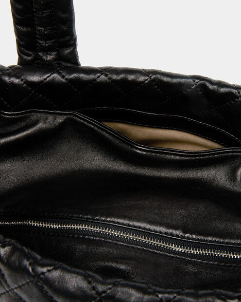Metro Tote - Black Quilted Leather (3701153) in color Black Leather
