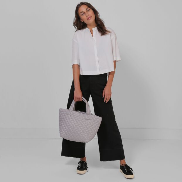 Gull Grey Oxford Small Metro Tote (3701392) in color Gull Grey