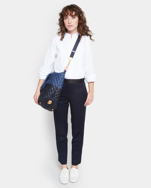 Large Sutton - Black and Navy Color-Block (2890406) in color Black & Navy