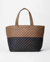 Fawn/Black Colorblock Large Metro Tote