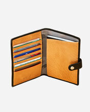 Black Leather Owen Travel Wallet (10981446)