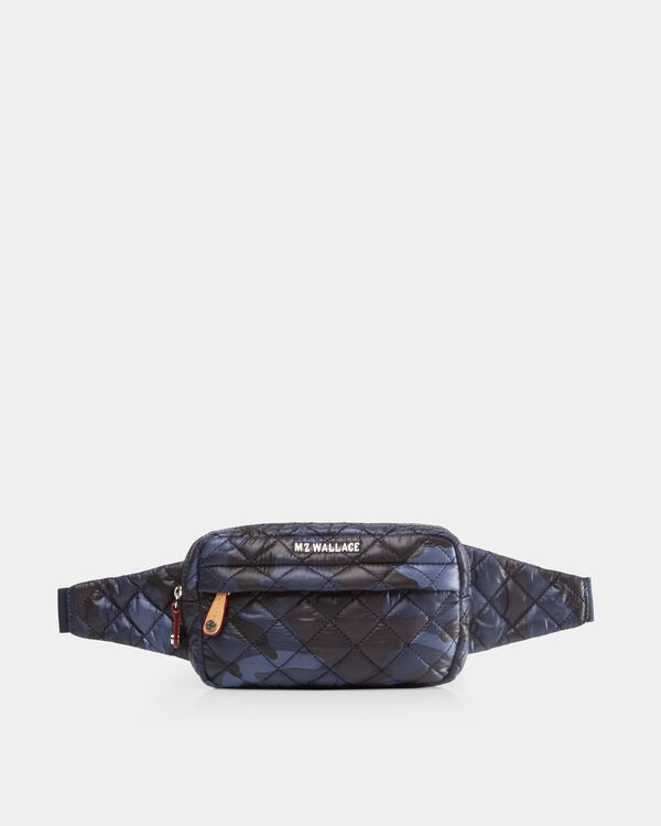Dark Blue Camo Metro Belt Bag