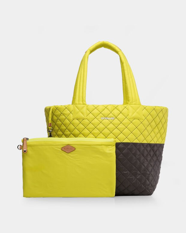 Neon Yellow/Magnet Oxford Medium Metro Tote (3761370)
