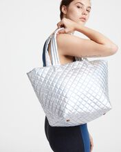 Hologram Metallic Medium Metro Tote