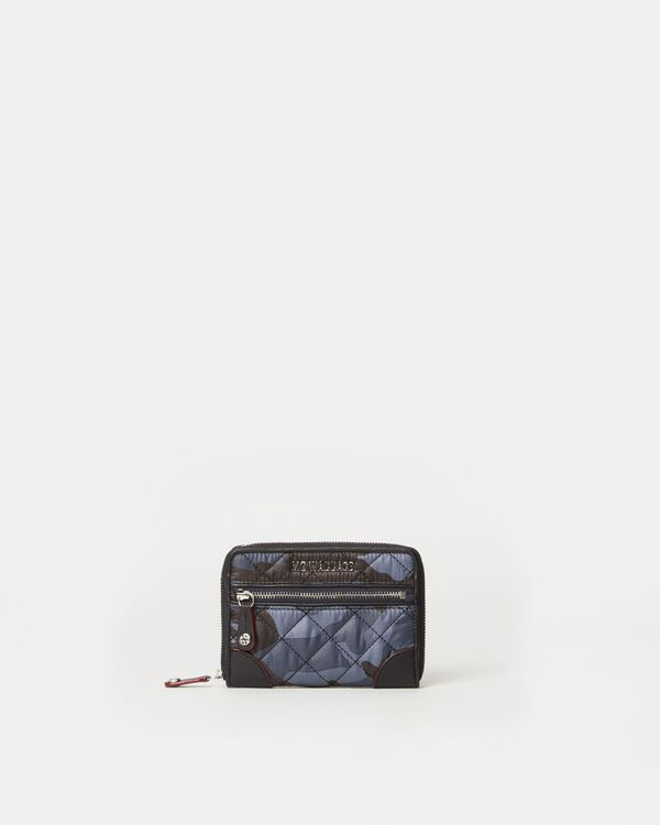 Dark Blue Camo Crosby Small Wallet