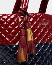 Cranberry Leather with Gold Foil Double Dip Tassel