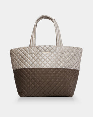 Clay and Atmosphere Metallic Colorblock Large Metro Tote (3711485)