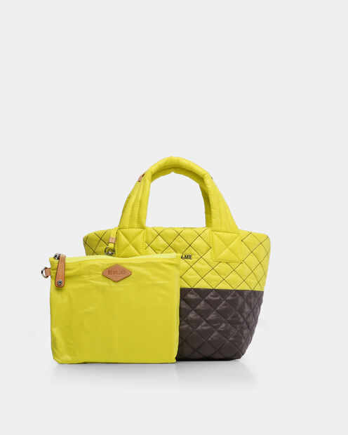 Neon Yellow/Magnet Oxford Metro Tote (4241370) in color Neon Yellow & Magnet
