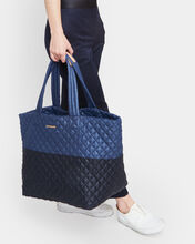 Navy/Black Colorblock Large Metro Tote