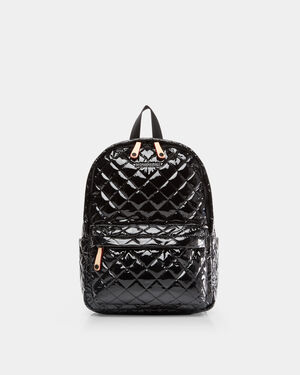 Black Lacquer Small Metro Backpack (5840434)