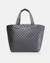 Steel Metallic Large Metro Tote