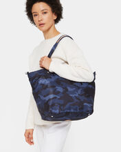 Dark Blue Camo Soho Tote