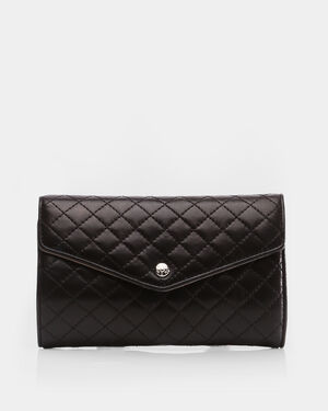 Jewelry Roll - Black Quilted Leather (1121153)