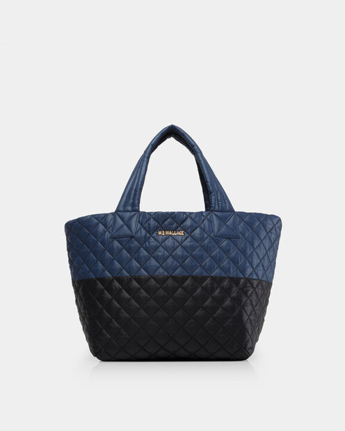Small Metro Tote - Black and Navy Color-Block (3700406) in color Black & Navy