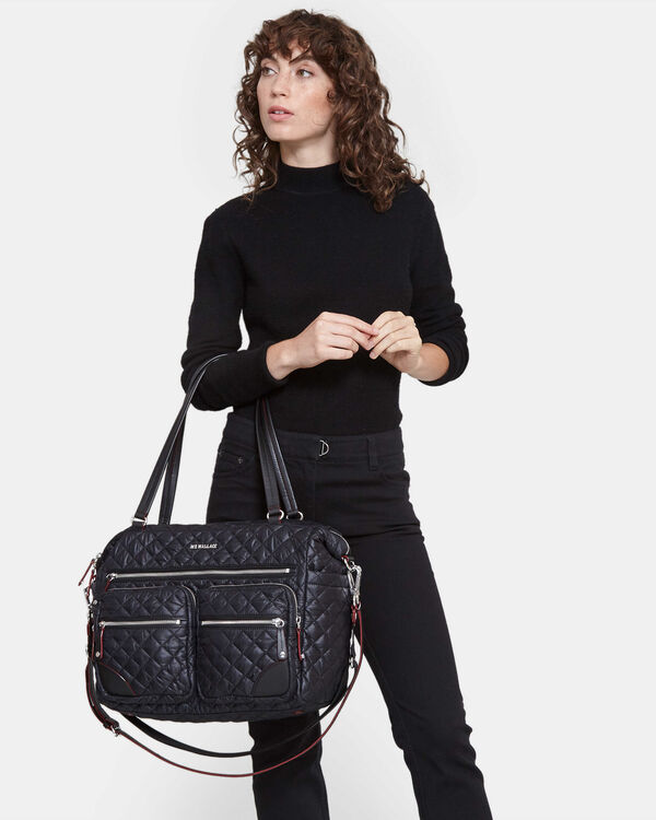 Black with Silver Hardware Crosby Traveler