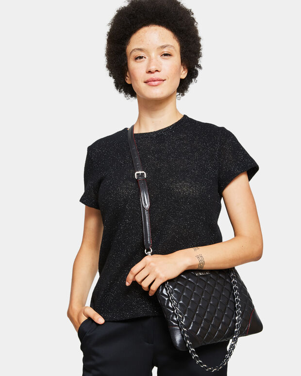 Black Quilted Leather Small Crosby Crossbody (10081153)