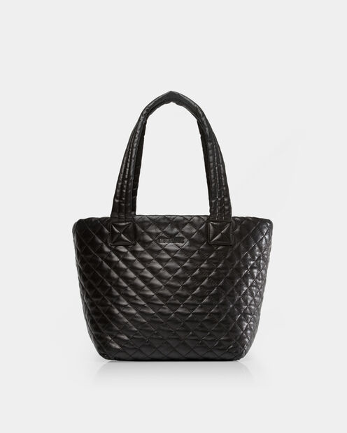Small Metro Tote in color Black Leather