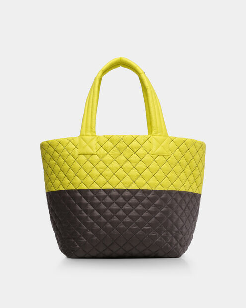 Neon Yellow/Magnet Oxford Metro Tote (3761370) in color Neon Yellow/Magnet