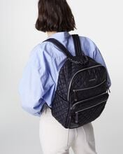 Black with Silver Hardware Crosby Backpack Traveler