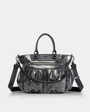 Graphite Glazed Linen Small Abbey Tote (5921465)