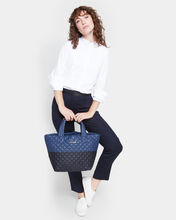 Navy/Black Colorblock Small Metro Tote