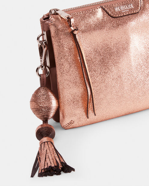 Rose Gold Leather Ball and Tassel (3751407) in color Rose Gold