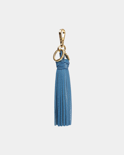 Braided Tassel in color Blue & Silver
