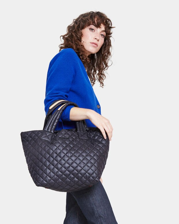 Small Metro Tote - Black Quilted Oxford Nylon (3700108)