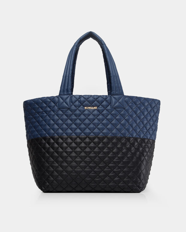 Black/Navy Colorblock Oxford Large Metro Tote (3710406)