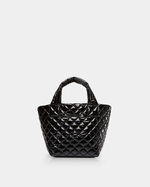 Black Lacquer Mini Metro Tote (4240434)