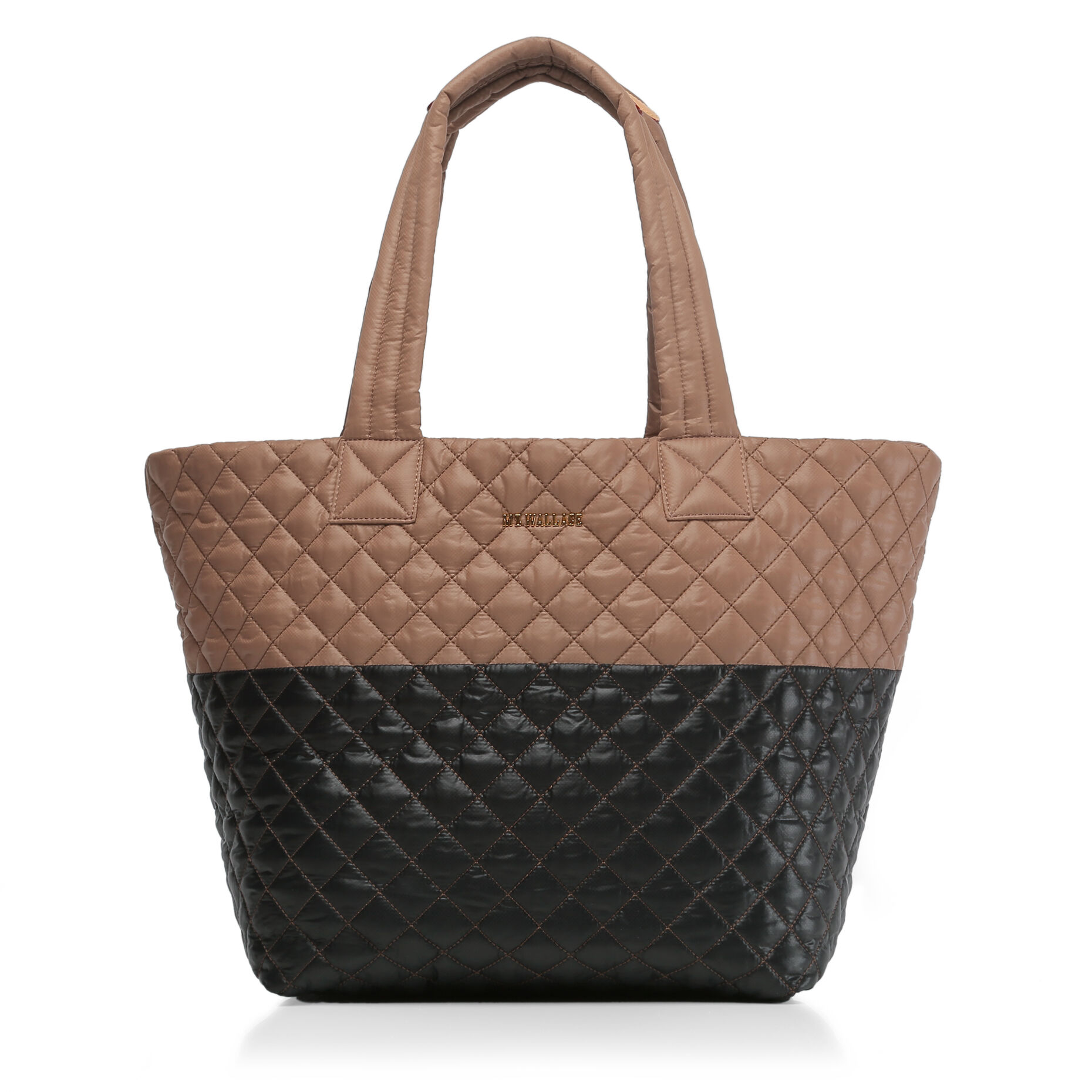 Acorn & Black Colorblock Oxford Medium Metro Tote (3761404)