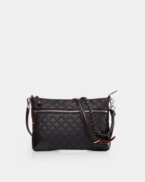 Black with Silver Hardware Crosby Crossbody (10070108)