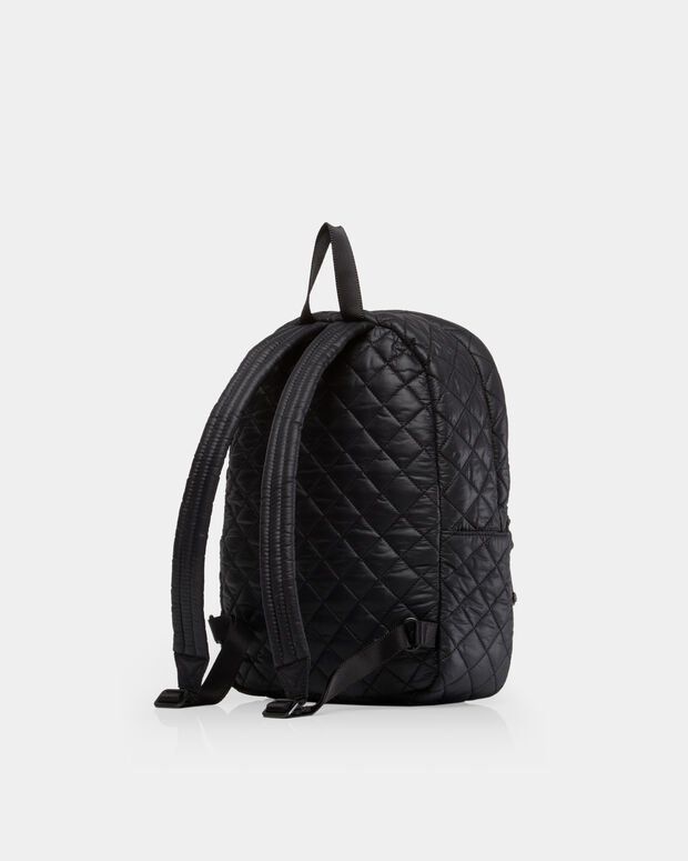 Small Metro Backpack - Black Quilted Oxford  (5840108)
