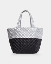Tin Metallic/Black Colorblock Medium Metro Tote