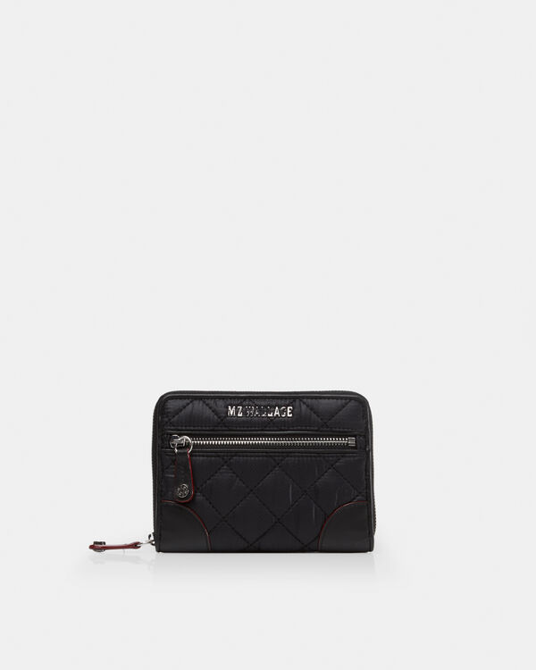 Black with Silver Hardware Crosby Small Wallet