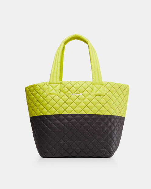 Medium Metro Tote in color Neon Yellow & Magnet