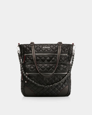 Black with Silver Hardware Crosby Tote (10490108)