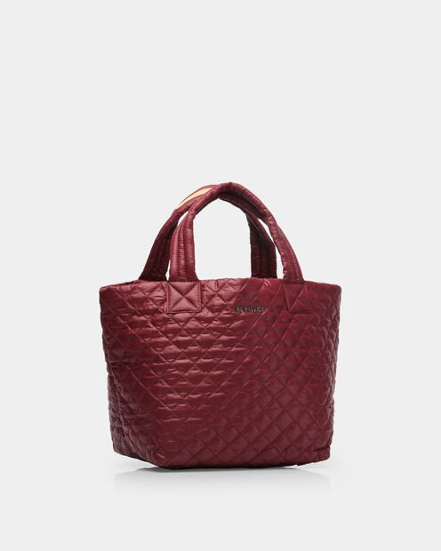 Small Metro Tote - Maroon Quilted Oxford (3701315) in color Maroon